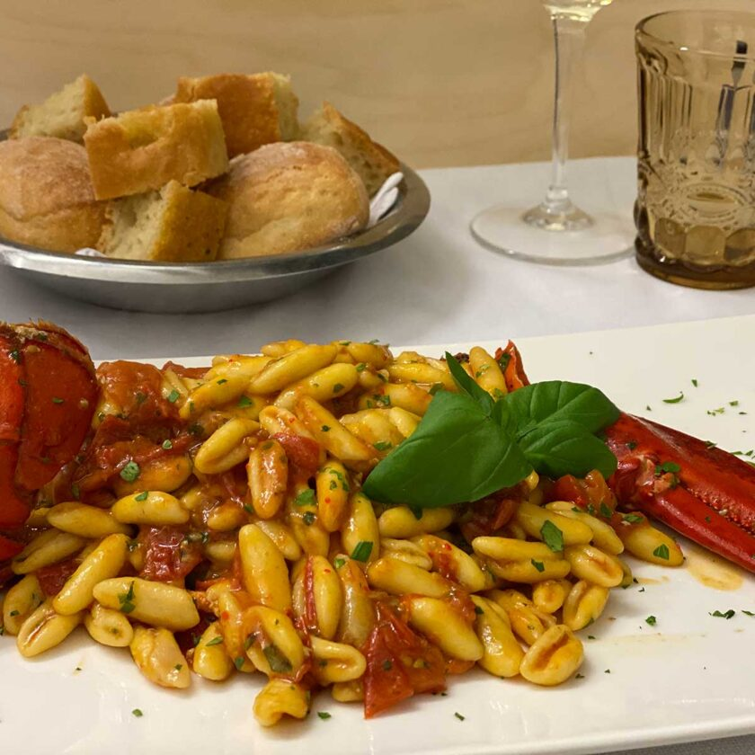 Cavatelli all'astice min 2 persone